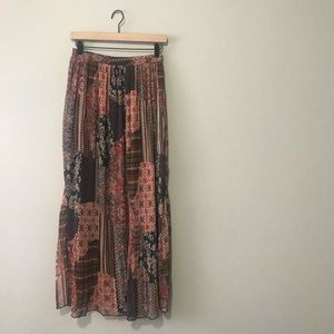 Skies are Blue Anthropologie Mixed Pattern Maxi